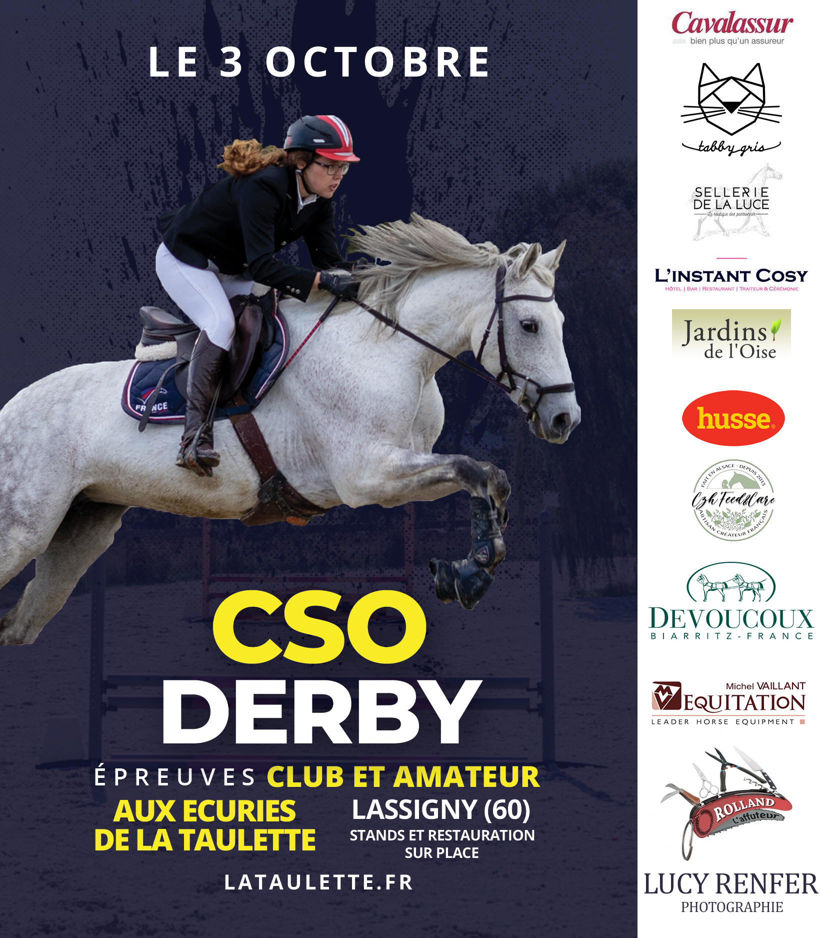 Horaires CSO/Derby – 3 Octobre 2021
